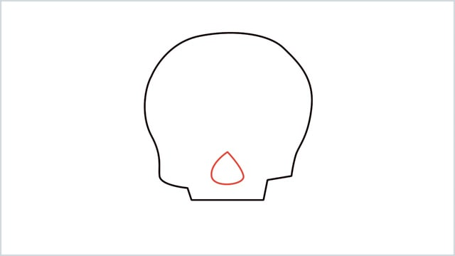 how to draw a skull step (3)