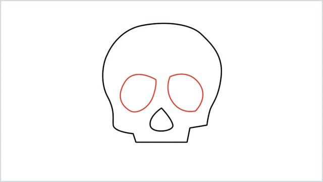 how to draw a skull step (4)