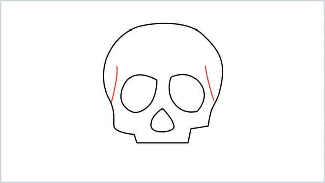 how to draw a skull step (5)
