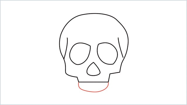 how to draw a skull step (6)