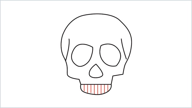 how to draw a skull step (7)