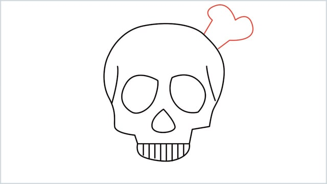 how to draw a skull step (8)