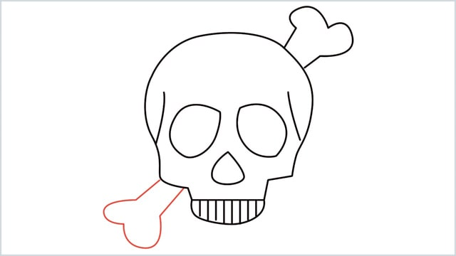 how to draw a skull step (9)