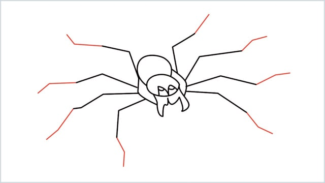 how to draw a spider step (10)
