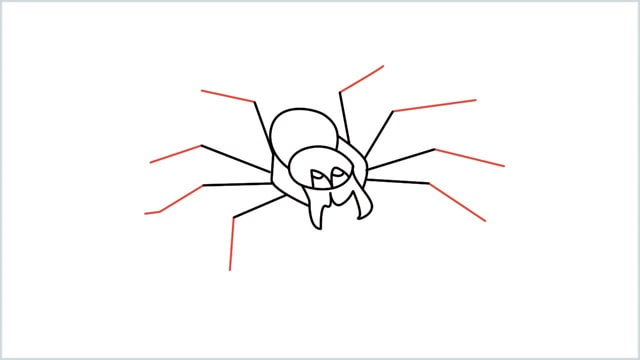 how to draw a spider step (9)