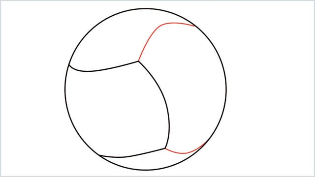how to draw a volleyball step (3)