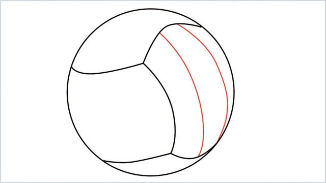 how to draw a volleyball step (4)