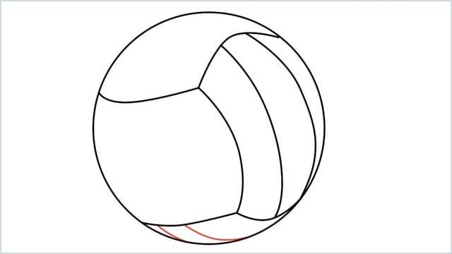 how to draw a volleyball step (5)