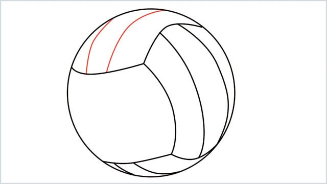 how to draw a volleyball step (6)