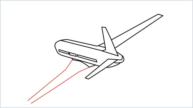 how to draw an airplane easy step (10)