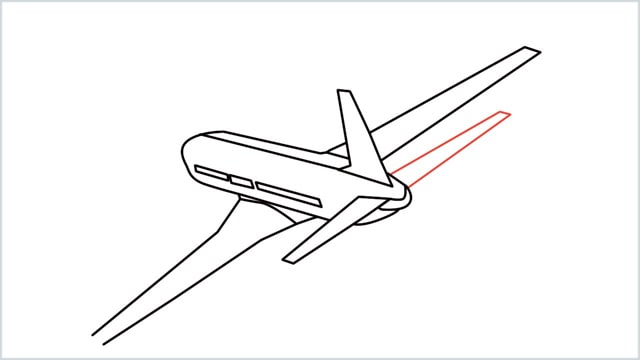 how to draw an airplane easy step (11)