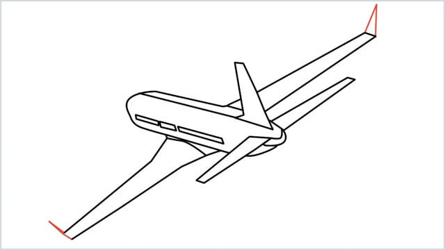 how to draw an airplane easy step (12)