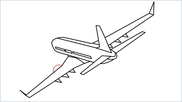 how to draw an airplane easy step (14)