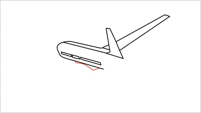 how to draw an airplane easy step (6)