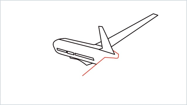 how to draw an airplane easy step (7)