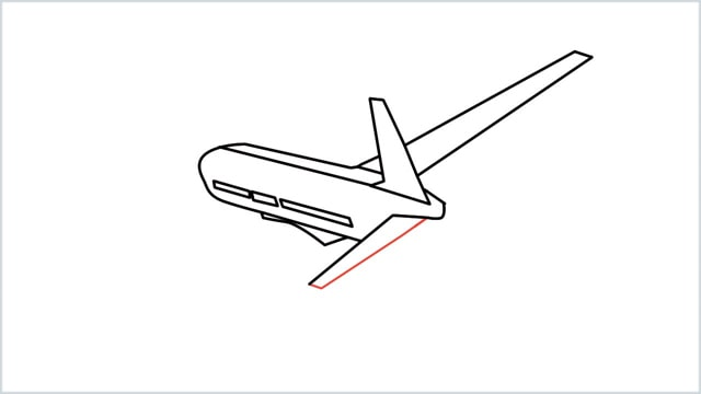 how to draw an airplane easy step (8)