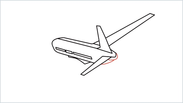 how to draw an airplane easy step (9)