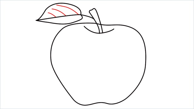 how to draw an apple step (10)