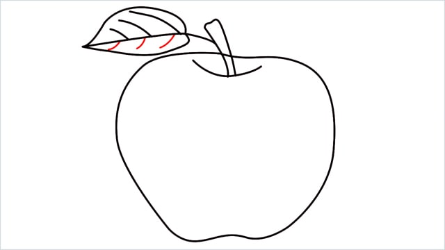 how to draw an apple step (11)