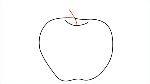 how to draw an apple step (4)