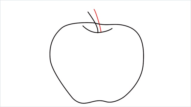 how to draw an apple step (5)