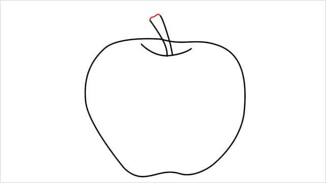 how to draw an apple step (6)