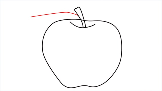 how to draw an apple step (7)