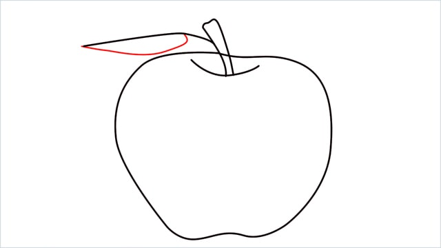 how to draw an apple step (8)