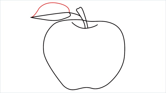 how to draw an apple step (9)