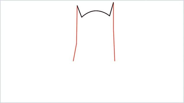 how to draw batman Step (2)