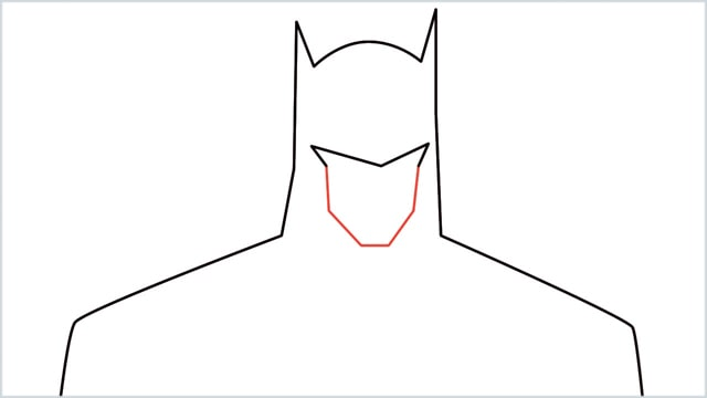 how to draw batman Step (4)