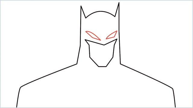 how to draw batman Step (5)