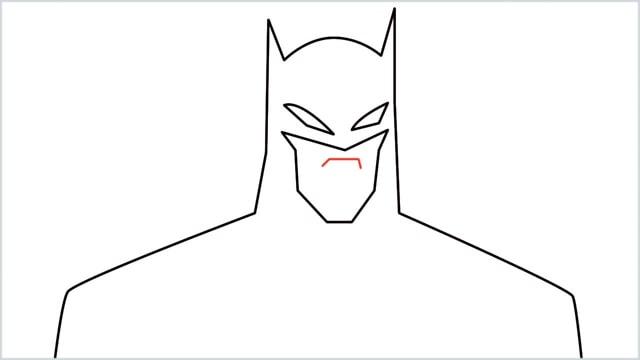 how to draw batman Step (6)