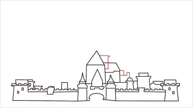 how to draw disney castle step (10)