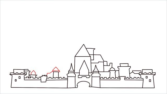 how to draw disney castle step (11)