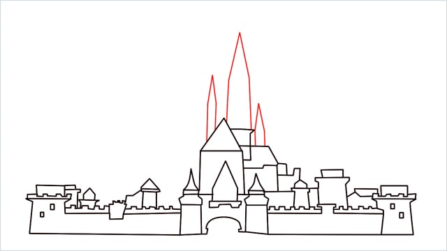 how to draw disney castle step (12)