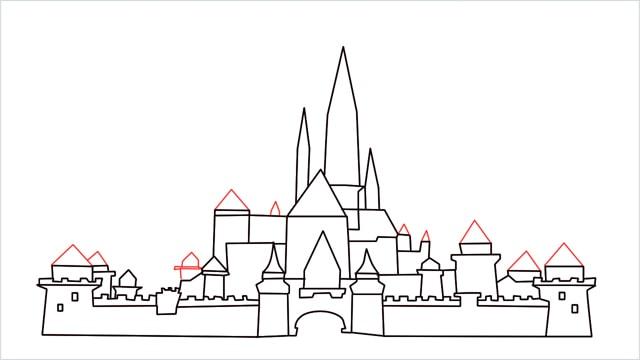 how to draw disney castle step (14)