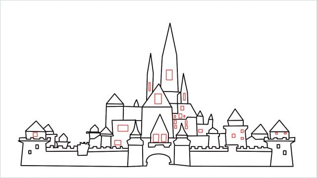 how to draw disney castle step (15)