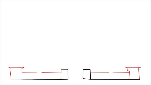 how to draw disney castle step (2)