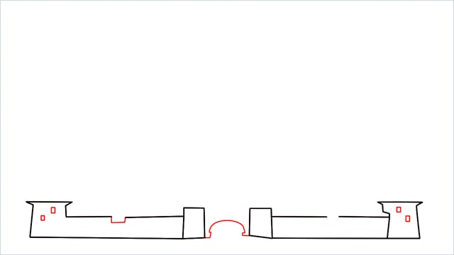 how to draw disney castle step (3)
