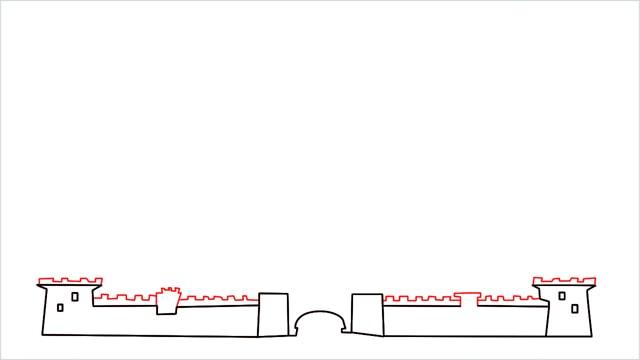 how to draw disney castle step (4)