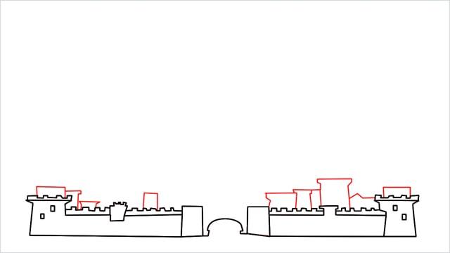 how to draw disney castle step (5)