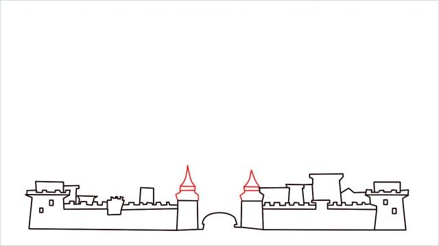 how to draw disney castle step (6)