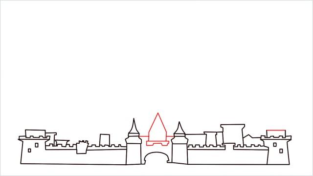 how to draw disney castle step (7)