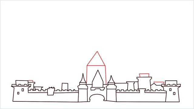 how to draw disney castle step (8)