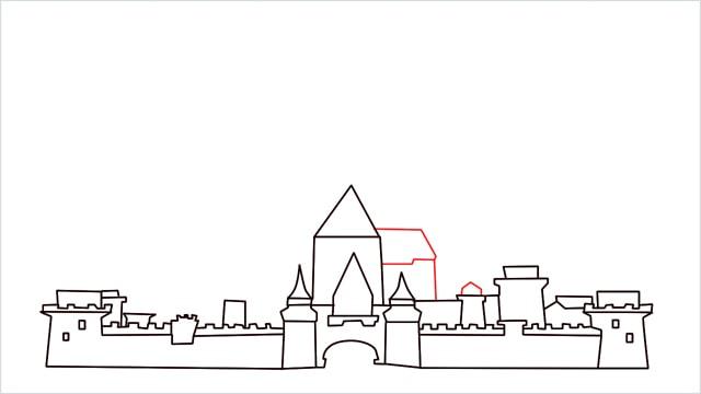 how to draw disney castle step (9)
