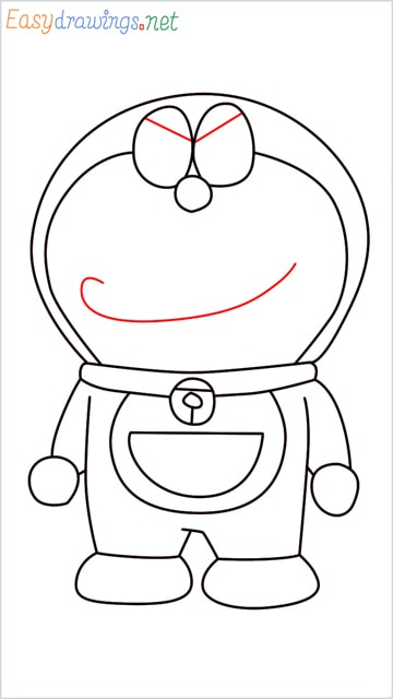how to draw doraemon face example 2 step (11)