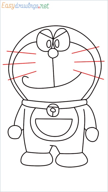 how to draw doraemon face example 2 step (13)