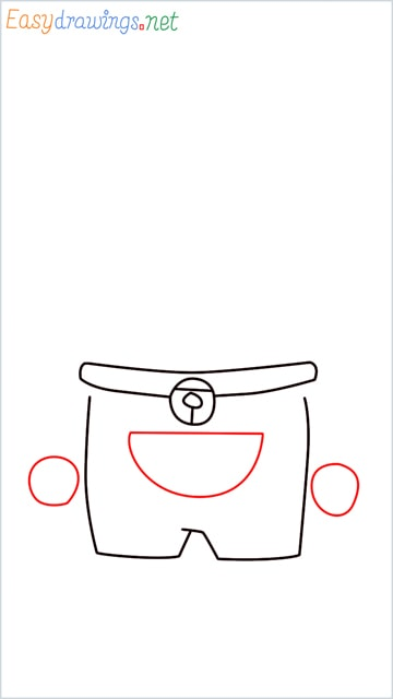 how to draw doraemon face example 2 step (5)