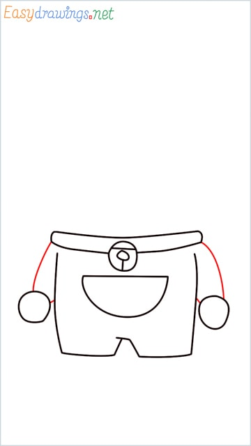 how to draw doraemon face example 2 step (6)